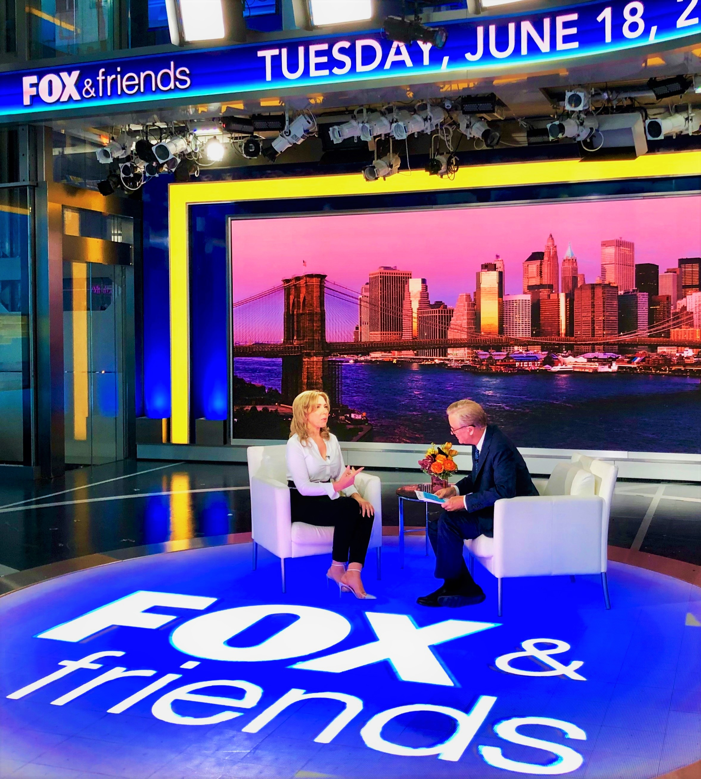 Fox & Friends Evi Kokalari-Angelakis Sits Down with Steve Doocy